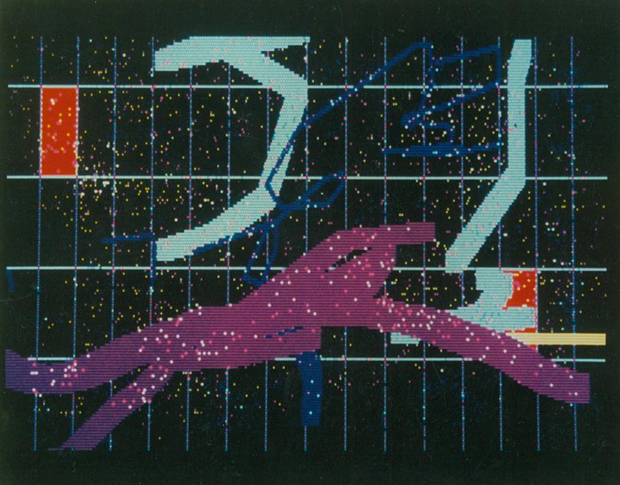 Szirtes János: KEP.AZC, számítógépes grafika, Digitart kiállítás, 1986